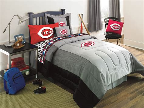 cincinnati reds mlb authentic team jersey bedding queen