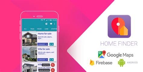 home finder realtime application with firebase and