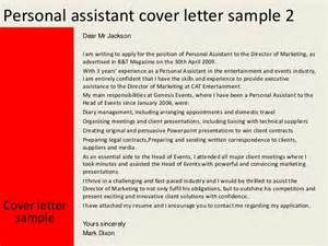 Cover Letter Personal Assistant by Personal Assistant Cover Letter