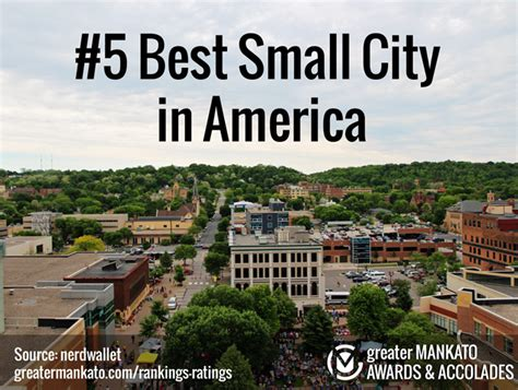 best small cities to live in nerdwallet 5 best small city in america greater mankato growth