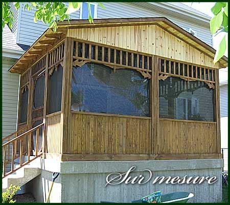 patio couvert patio couvert avec moustiquaire gatineau projet 29629
