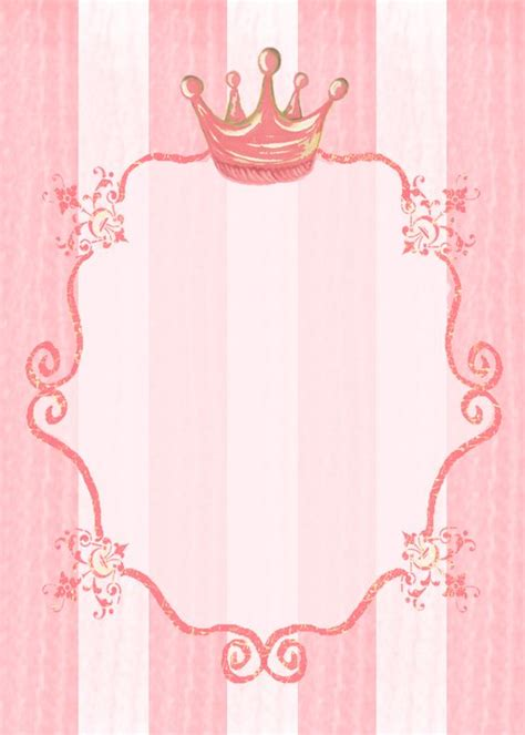 birthday invitation background templates princess invitation background stationery