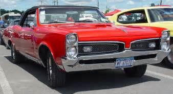 1960s Pontiac Gto 1967 Pontiac Gto Convertible Front Angle