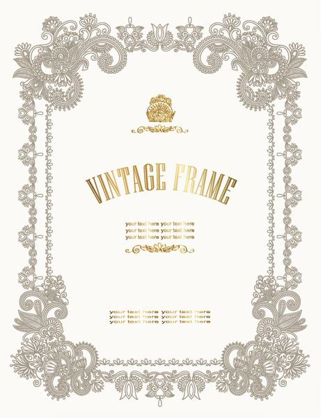 ornate certificate template vector free vector 4vector european style decorative pattern certificate template