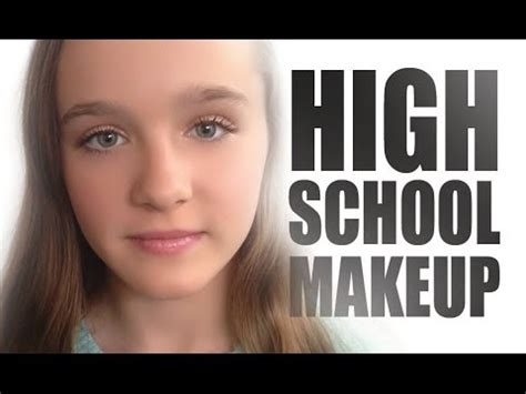 natural makeup tutorial for high school high school teen makeup tutorial teen makeup youtube