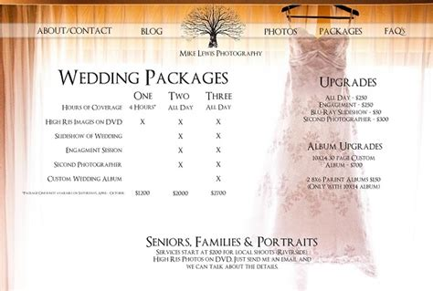 Photography Packages by Pin Weddings Packages On