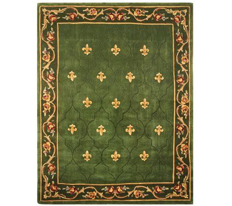 qvc royal palace rugs royal palace special edition 7 x9 fleur de lis wool rug page 1 qvc