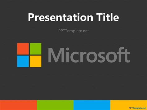 Free Youtube Ppt Template Microsoft Themes Powerpoint