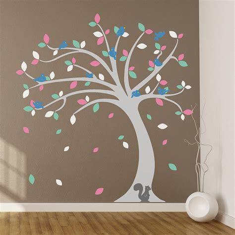 childrens tree wall stickers children s tree wall stickers set by oakdene designs notonthehighstreet