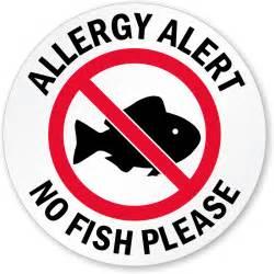 laminated glass door allergy alert no fish please door decal signs sku lb