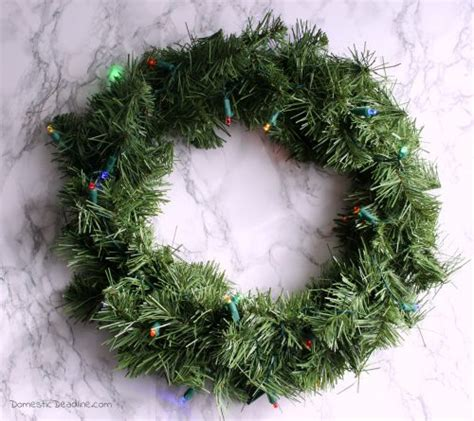 wal mart battery operated wreaths with timer diy light up wreaths domestic deadline