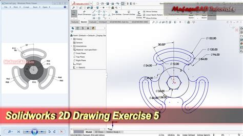 solidworks sketch pattern edit solidworks 2d drawing practice tutorial basic exercise 5