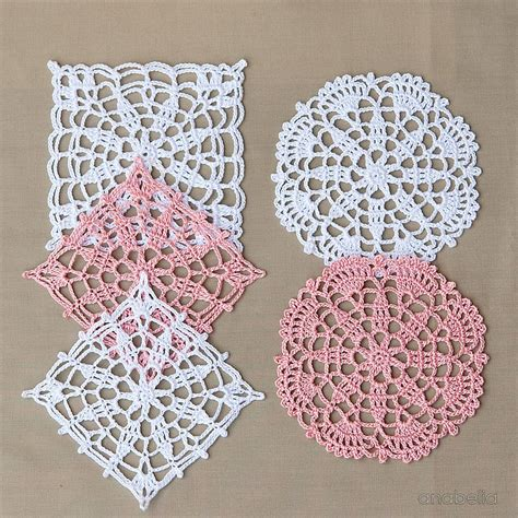Crochet Lace Motifs In Pink And White Free Patterns anabelia craft design crochet lace motifs in pink and