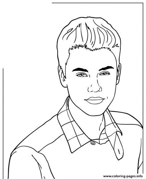 coloring pages to print of justin bieber icon justin bieber coloring pages printable