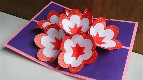 3d pop up cards how to make diy pop up card how to make a 3d flower pop up card