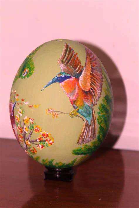 decorar huevo avestruz huevo de avestruz decorado huevos decorados pinterest