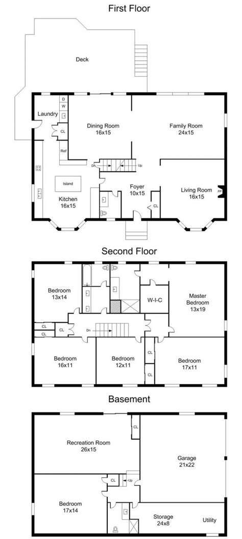 center hall colonial floor plans center colonial floor plans 5000 house plans