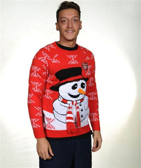 arsenal xmas jumper arsenal christmas jumpers arsenal stars get festive