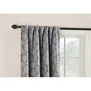 Thermal Drapes Lowes Shop Style Selections Barrett 84 In L Geometric Slate
