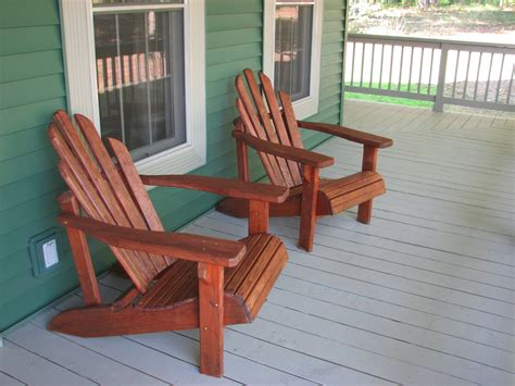 Outdoor Porch Chairs Re Staining Adirondack Chairs Living Rich On Lessliving