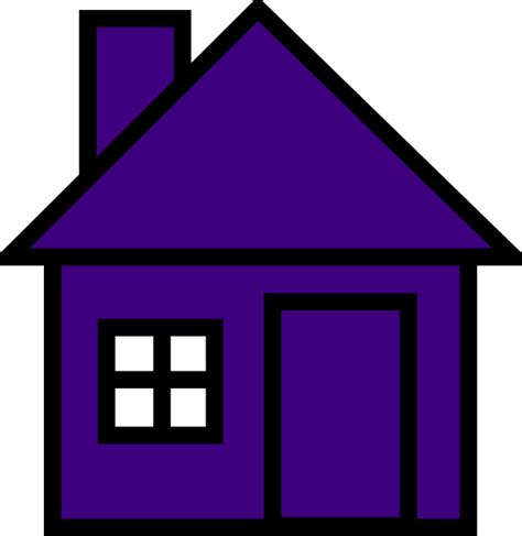 purple house very purple house clip art at clker com vector clip art online royalty free
