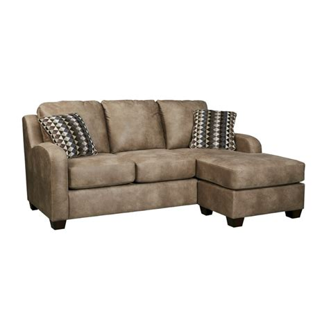 Ashley Alturo Sofa Faux Leather Chaise In Dune 6000318 Faux Leather Sectional Sofa With Chaise