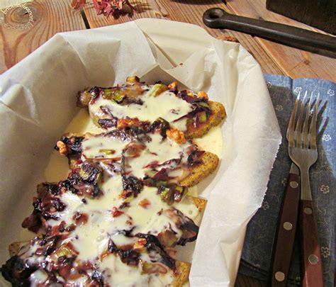 cucinare polenta taragna fette di polenta taragna al forno con verdure formaggio