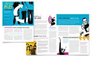 Church Magazine Template by Church Outreach Ministries Newsletter Template Design