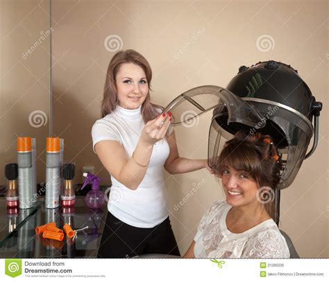 Hair Dryer Quit Working hairdresser working with hair dryer stock image image