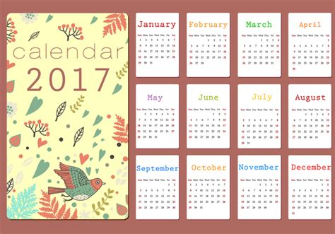 design calendar 2017 2017 calendar free vector download 1 520 free vector for