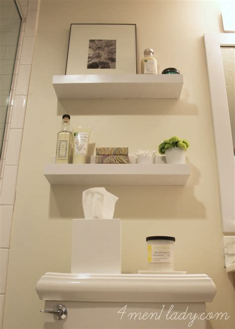 small bathroom wall shelves bathroom renovation reveal