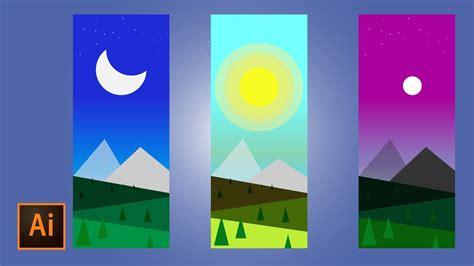 usando pattern illustrator como crear paisajes con figuras basicas en illustrator