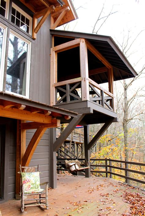 Balcony Awning Timber Frame Porch Heavy Timbered Porch Timber Frame