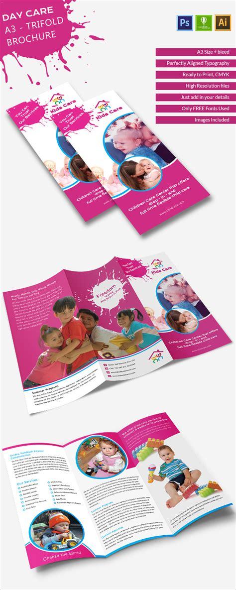 daycare brochure template tri fold brochure template 45 free word pdf psd eps