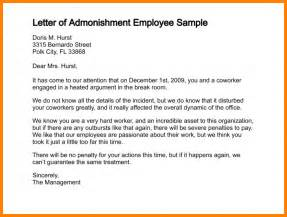 Letter Of Reprimand Template by 8 Employee Reprimand Letter Bid Template