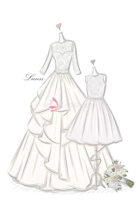 Brautkleider Zeichnen Lernen by Sketch Of Illusion Lace Appliqued Tiered Wedding Dress And