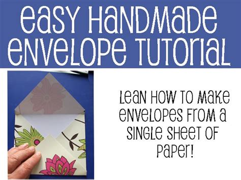 How To Make A Of Paper Into An Envelope - easy folded paper envelope tutorial