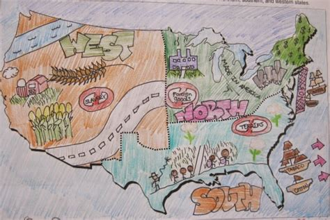 sectionalism map social studies games civil war learning activities unit 4