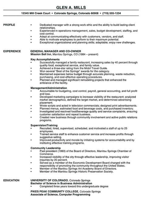 resume examples for restaurant resume examples for restaurant bar
