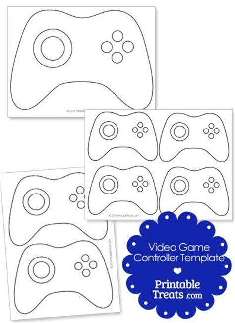 Xbox Controller Card Template by Printable Controller Template Printables