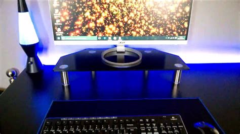 monitor stand cl on glass vonhaus glass pc monitor stand youtube