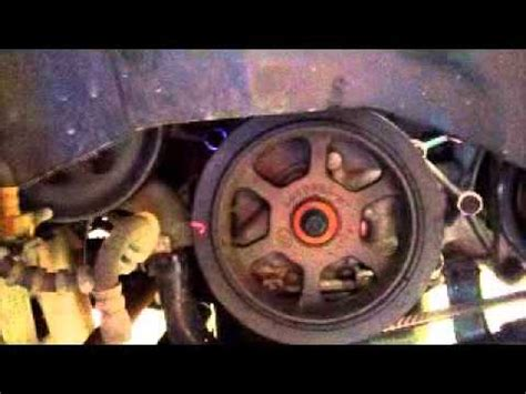 serpentine belt noise ac compressor clutch broken youtube