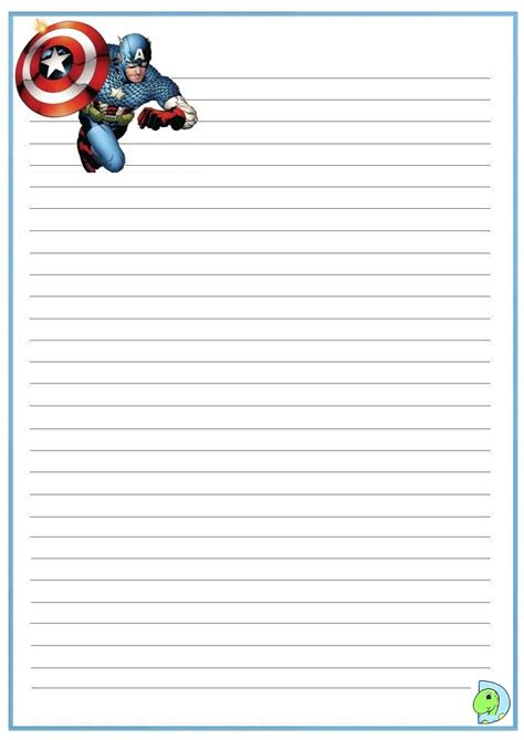 american writing paper captain america writing paper dinokids org