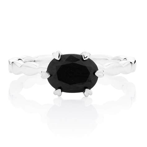 Cubic Black black cubic zirconia stack ring