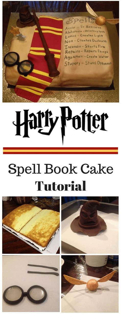 harry potter inspired spell book cake tutorial cakespartysurprisespresents   harry