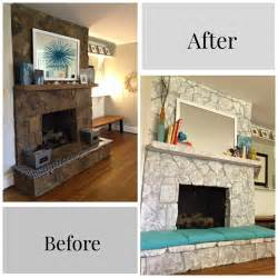 Updating Old Cabinets Painting A Stone Fireplace Finally I Did It