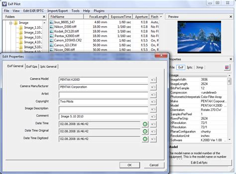 exiftool remove tag image gallery exif editor