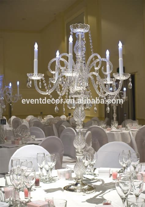unique glass candelabra tall wedding table candelabra