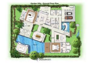 villa plan saisawan garden villas ground floor plan