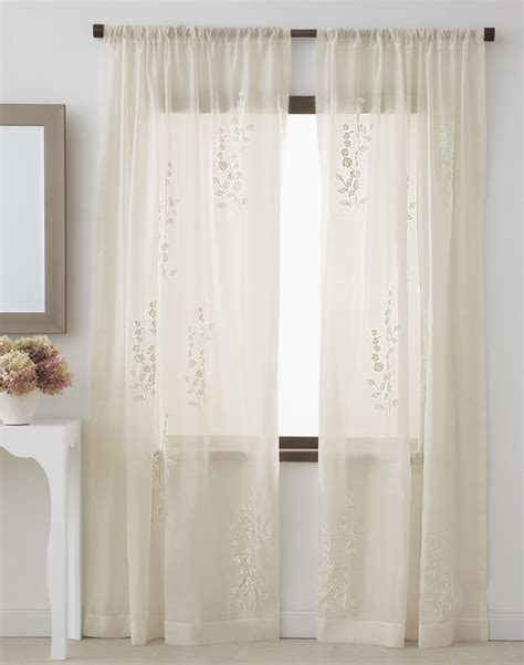 curtains sheers and panels dkny rosette sheer window curtain panel curtainworks com